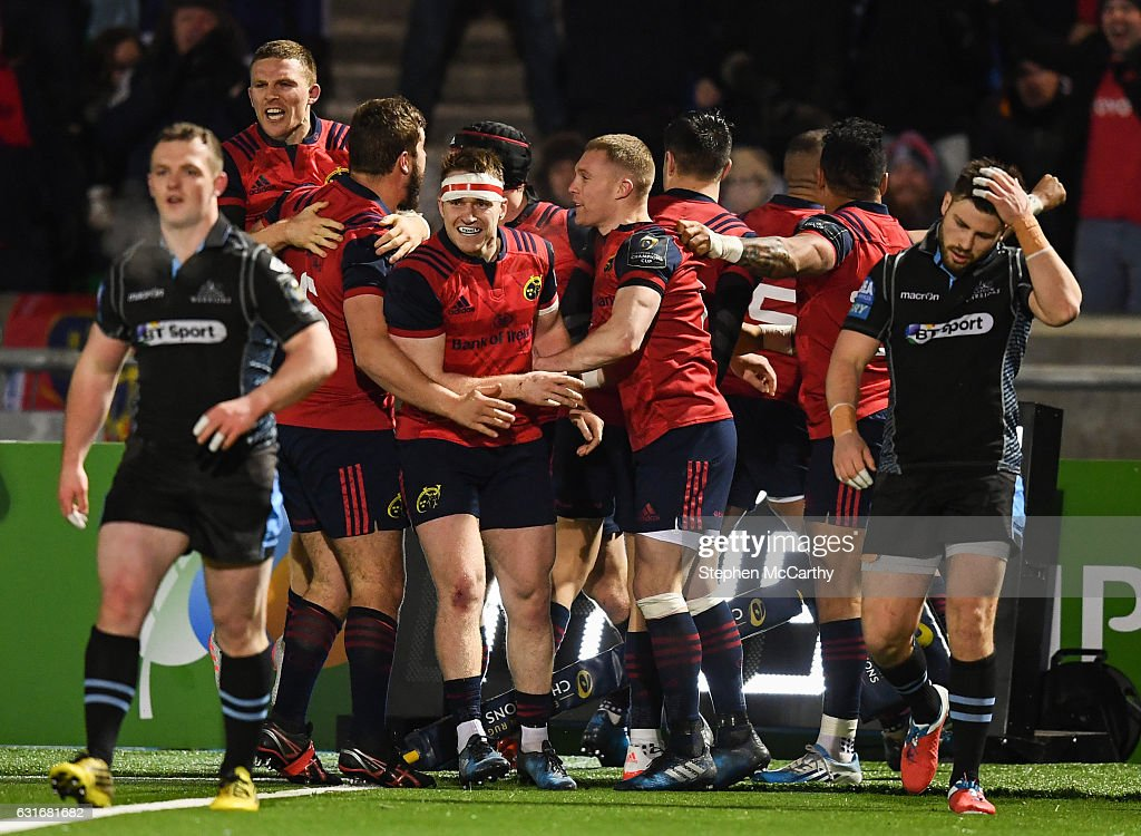 Glasgow Warriors v Munster - European Rugby Champions Cup Pool 1 Round 5 : News Photo
