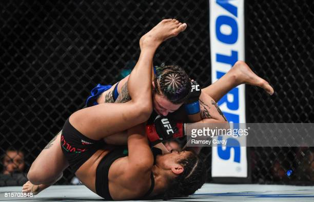 Glasgow United Kingdom 16 July 2017 Joanne Calderwood above in action against Cynthia Calvillo during their strawweight bout at UFC Fight Night...