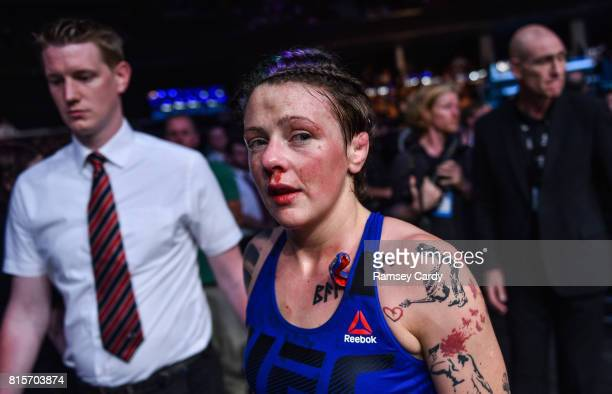 Glasgow United Kingdom 16 July 2017 Joanne Calderwood following her defeat to Cynthia Calvillo in their strawweight bout at UFC Fight Night Glasgow...