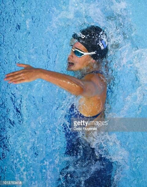 Glasgow United Kingdom 9 August 2018 Arianna Valloni of San Marino competing in the Women's 400m Individual Meley preliminary heat during day eight...