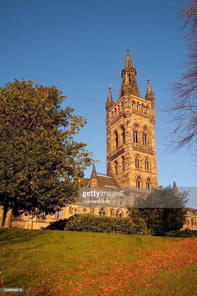 Glasgow University Scotland Main Building : Stock Photo