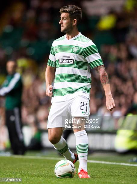 Charlie Mugrew in action for Celtic.