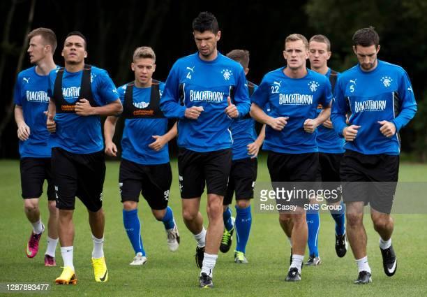 Emilson Cribari and his Rangers team mates are put through their paces