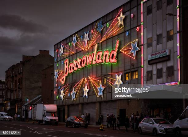 glasgow's barrowland ballroom, illuminated at night - old glasgow stock photos and pictures