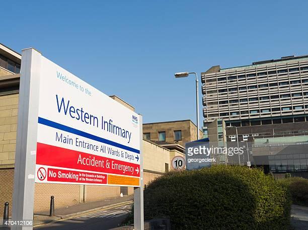 Glasgow s Western Infirmary Hôpital Panneau d'entrée