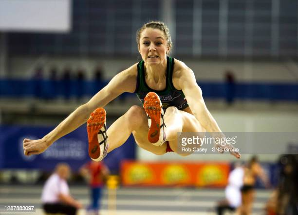 Scotland's Jade Nimmo takes fifth place in the women's long jump