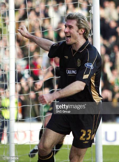 Stan-tastic....Stanislav Varga celebrates scoring the second goal on the day Celtic notched up a record breaking 24th league win on the trot.