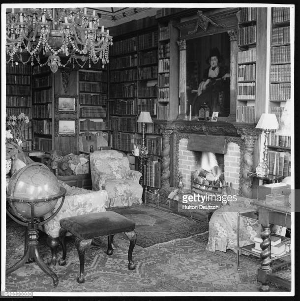 Glaslough Castle now called Leslie Castle features a cozy study complete with a fireplace