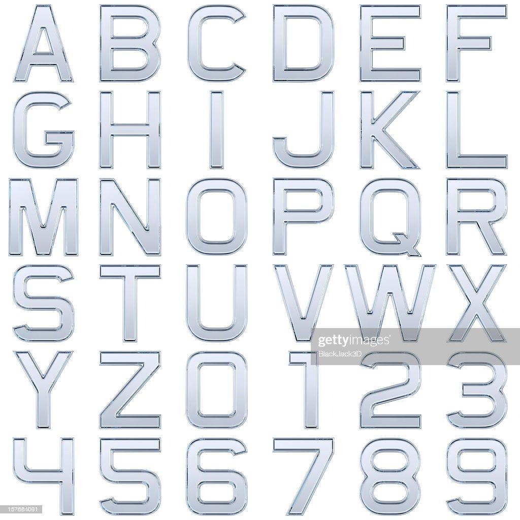 Glass alphabet (Extra Large Size) : Stock Photo