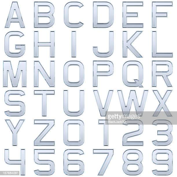 glass alphabet (extra large size) - font stock pictures, royalty-free photos & images