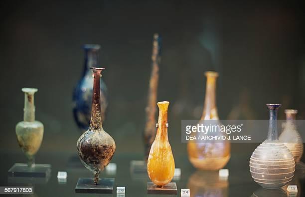 Glass ampoule 1st century BC1st century AD Jerusalem Israel Museum