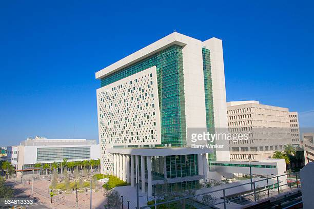 glass and concrete children's courthouse, miami - miami dade county stock photos and pictures