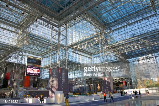 Glass And Steel Atrium Lobby Of Convention Center Stock