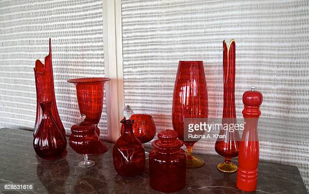 Glass artefacts at Spice Traders a PanAsian restaurant at the newlyopened W Goa on December 8 2016 in Goa India