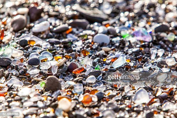 glass beach, fort bragg, california - fort bragg stock pictures, royalty-free photos & images