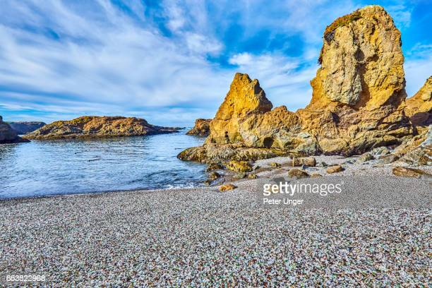 glass beach, fort bragg, california,usa - fort bragg stock pictures, royalty-free photos & images