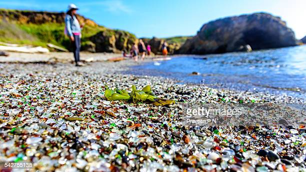 glass beach - fort bragg stock pictures, royalty-free photos & images
