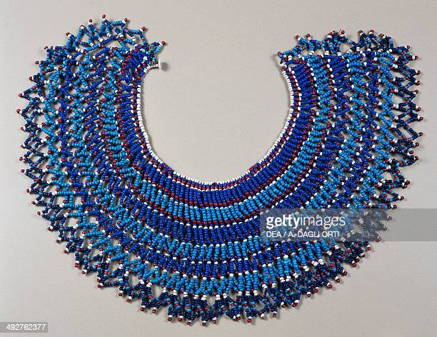 Glass bead necklace worn by married women Xhosa Southern Africa