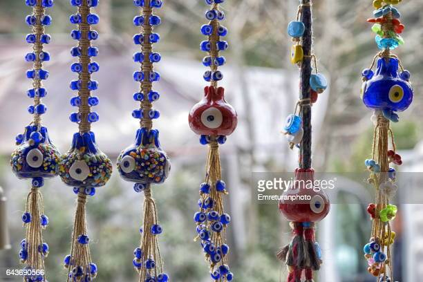 glass beads for luck in nazarkoy . - emreturanphoto stock pictures, royalty-free photos & images