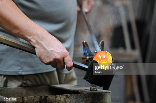 Glass Blower (Craftsperson) at work