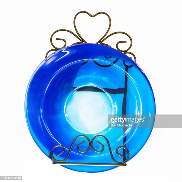 Glass Blown Blue Plate