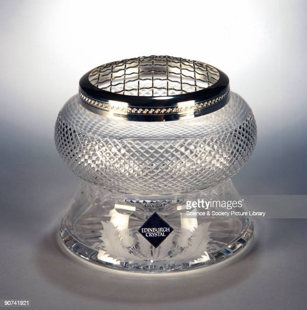 Glass bowl made by the Edinburgh Crystal Glass Co Ltd The glass is cut by hand using an industrial diamond cutter an instrument like a tiny circular...