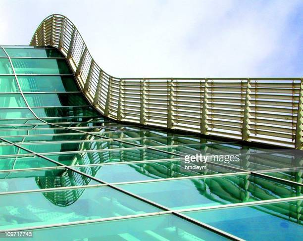 Glass Bridge Illusion of Building Facade