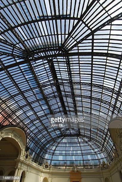 Glass ceiling in Palacio de Bellas Artes, Palace of Fine Arts.