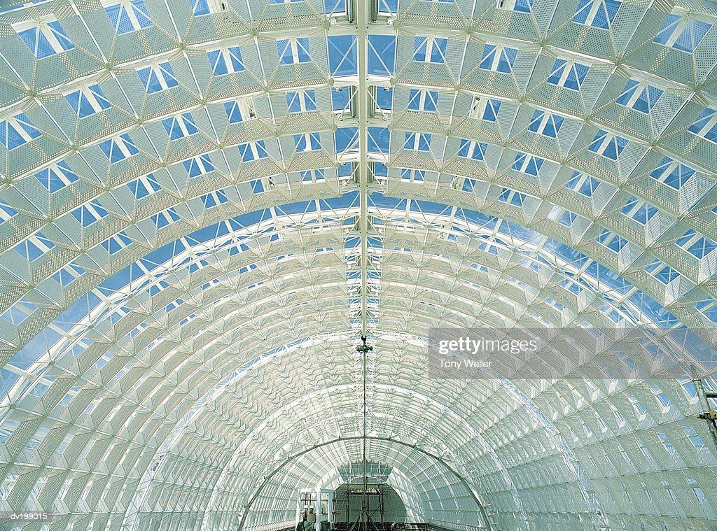 Glass ceiling : Foto de stock