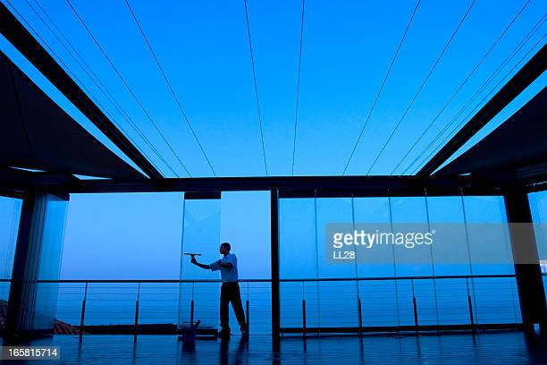 glass cleaning - commercial cleaning stock photos and pictures