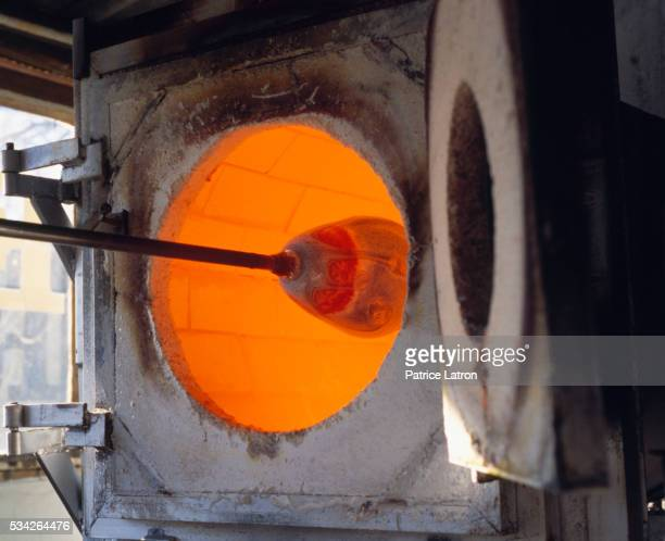 glass cooking furnace - blowpipe stock pictures, royalty-free photos & images