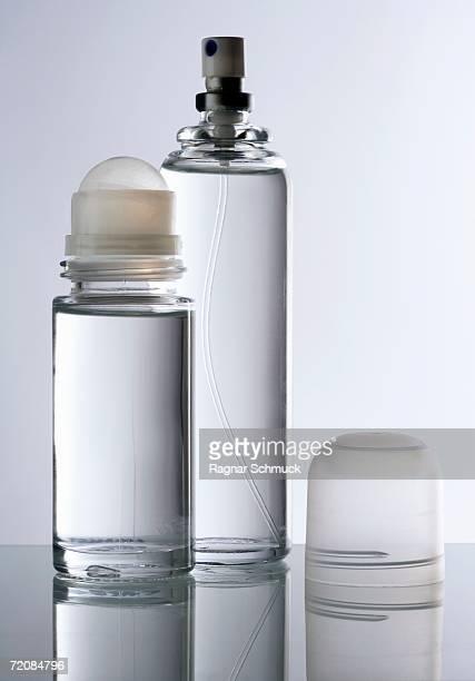 Glass deodorant and perfume bottle