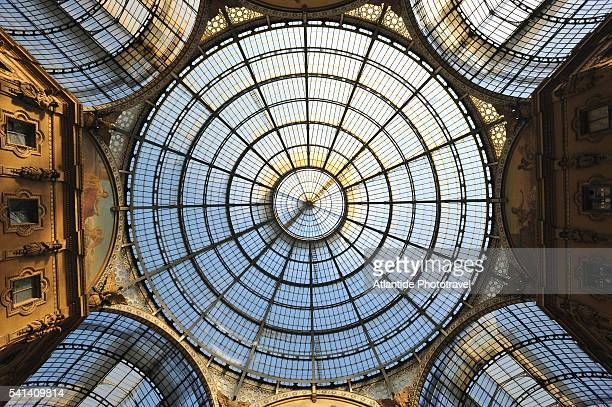 Glass dome and vaults in Galleria Vittorio Emanuele II
