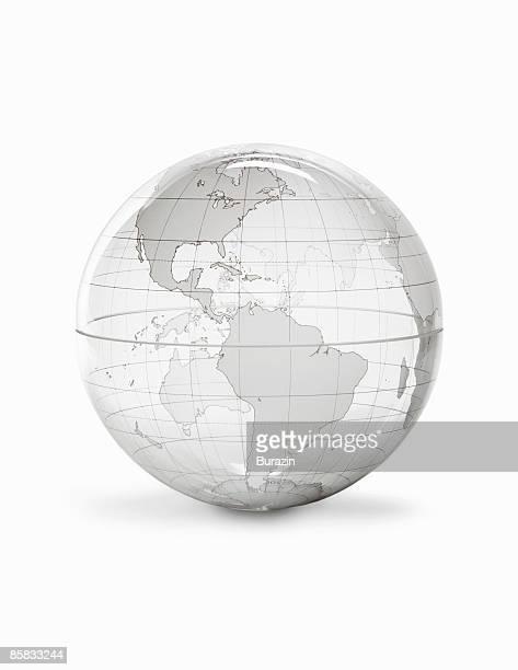 Glass Earth Globe