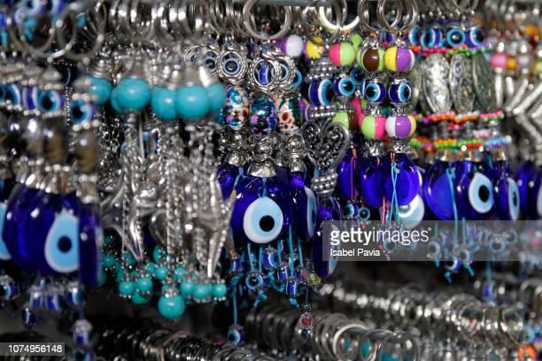 Glass Evil Eye Keychains