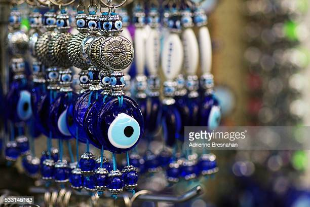 Glass Evil Eye Keychains