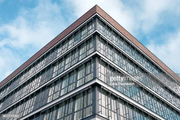 glass facade of office building - hanover germany stock pictures, royalty-free photos & images