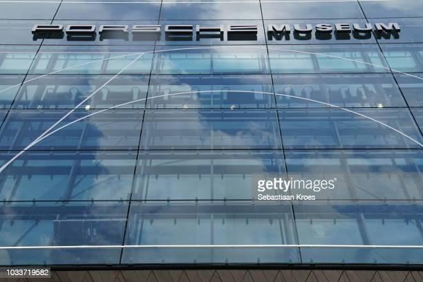 Glass Facade of the Porsche Museum, Stuttgart, Germany