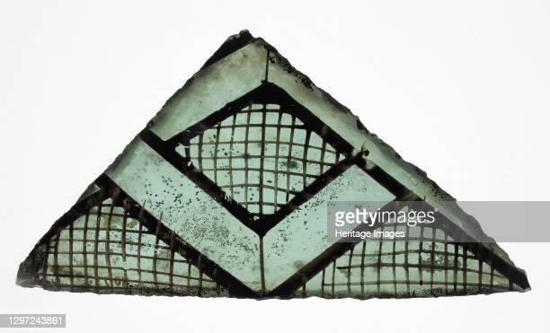 Glass Fragment, French or British, 13th-14th century. Artist Unknown.