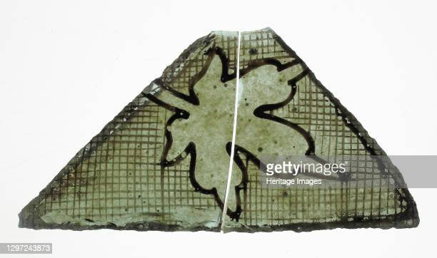 Glass Fragment, French or British, 14th century. Artist Unknown.