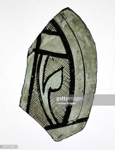 Glass Fragment, French or British, ca.1300. Artist Unknown.