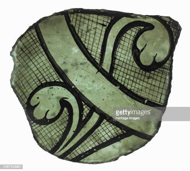 Glass Fragment, French or British, circa 1300. Artist Unknown.