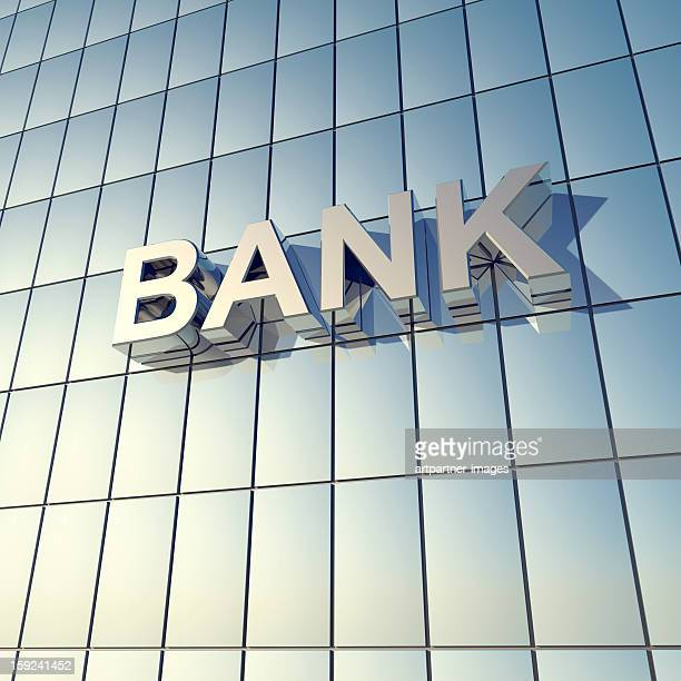 glass front of a bank building - bank stock pictures, royalty-free photos & images