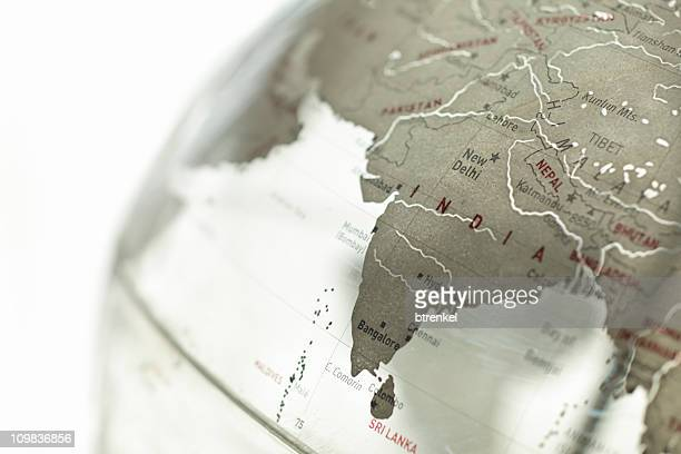 glass globe - india - india stock pictures, royalty-free photos & images