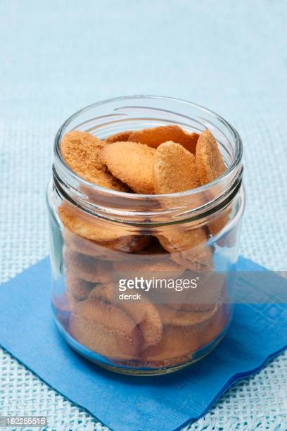 Glass Jar of Vanilla Wafer Cookies