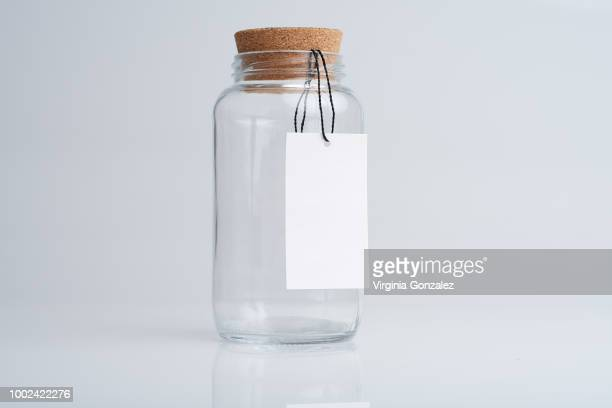 glass jars - bottle stopper stock photos and pictures