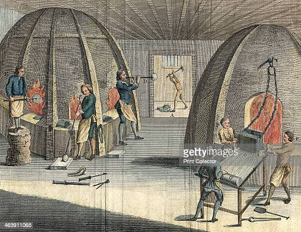 Glass manufacturing 1760 Making crown glass by blowing and plate glass by casting Glass workers were susceptible to cataracts caused by the glare of...