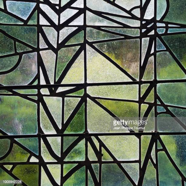glass mosaic abstract - stained glass window - stained glass stock pictures, royalty-free photos & images