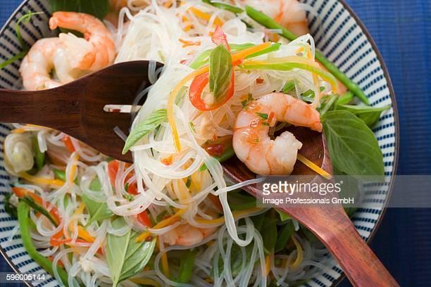 Glass noodle salad with shrimps (Asia)