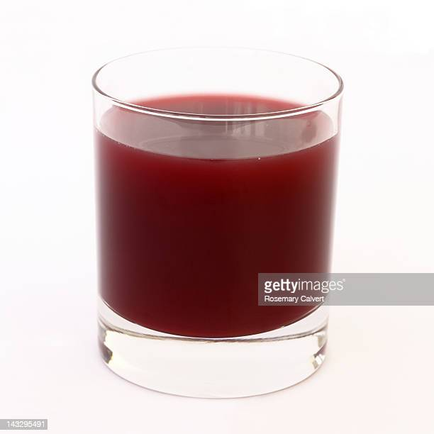 Glass of acai berry juice for a healthy breakfast